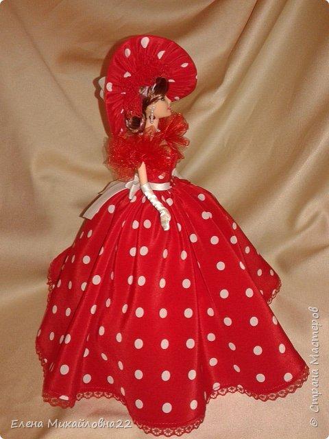 Дама в красном....(кукла-шкатулка) фото 7