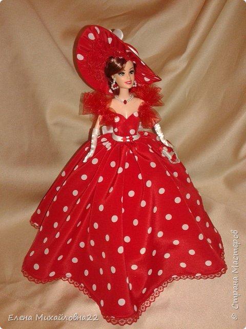 Дама в красном....(кукла-шкатулка) фото 12