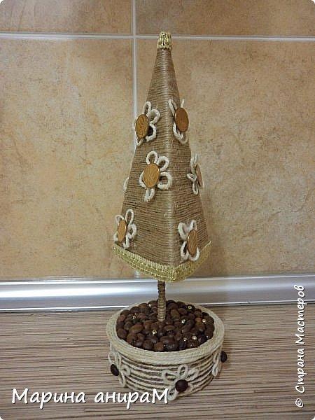 Представляю Вам серию деревьев счастья.Они могут быть по разному украшены, обернуты разным цветом шпагата и абсолютно по разному задекорированы. Можно подарить как денежное дерево, используя в качестве декора монетки. Вот мои варианты подачи. фото 5