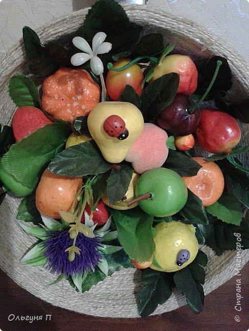 В доме нашлась ненужная сковородка - готовить на ней нельзя, а выбросить жалко...Решила создать компаньона для фруктового топиария.... фото 2