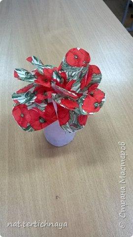 Добрый день всем жителям Страны Мастеров! Эти цветочные букетики мы сделали с ребятами 6 класса ко Дню Матери по описанию Татьяны Николаевны Просняковой. По ее мастер- классу. Спасибо ей большое! фото 4
