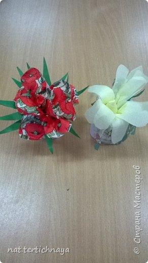Добрый день всем жителям Страны Мастеров! Эти цветочные букетики мы сделали с ребятами 6 класса ко Дню Матери по описанию Татьяны Николаевны Просняковой. По ее мастер- классу. Спасибо ей большое! фото 5