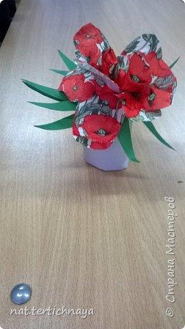 Добрый день всем жителям Страны Мастеров! Эти цветочные букетики мы сделали с ребятами 6 класса ко Дню Матери по описанию Татьяны Николаевны Просняковой. По ее мастер- классу. Спасибо ей большое! фото 6