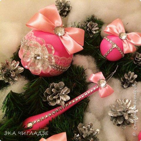 Ещё один набор розовых шариков фото 3
