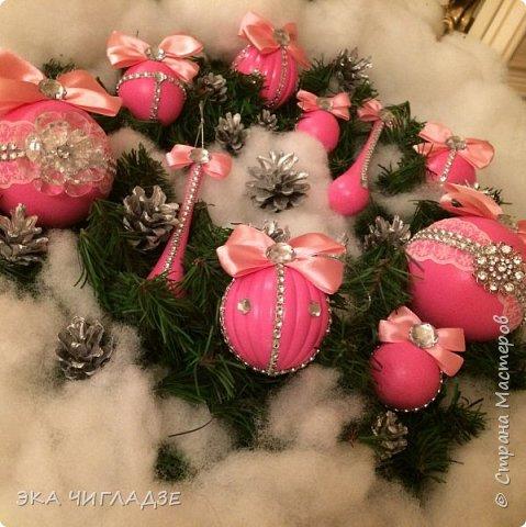 Ещё один набор розовых шариков фото 5