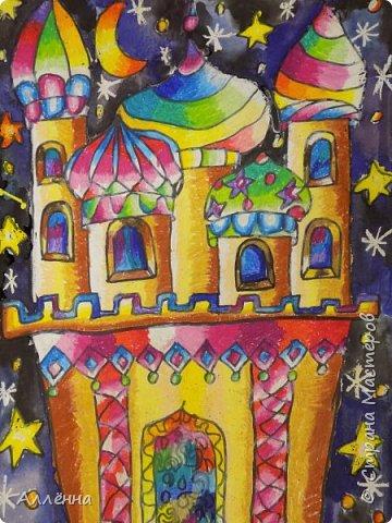 Рисование - самый простой способ погрузиться в мир волшебства, гармонии  и любви. Спасибо моим детям за это!  Сочные сказочные мотивы :) Добрый путник войди в славный город Багдад!  фото 1
