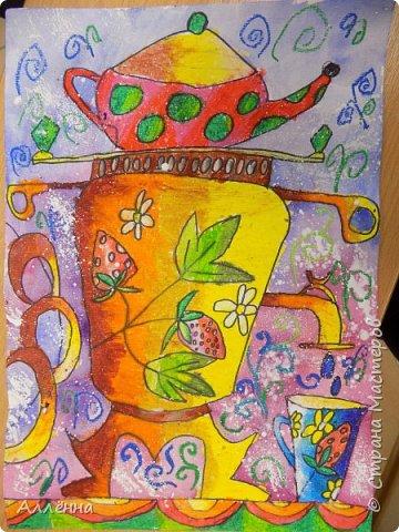 Рисование - самый простой способ погрузиться в мир волшебства, гармонии  и любви. Спасибо моим детям за это!  Сочные сказочные мотивы :) Добрый путник войди в славный город Багдад!  фото 20