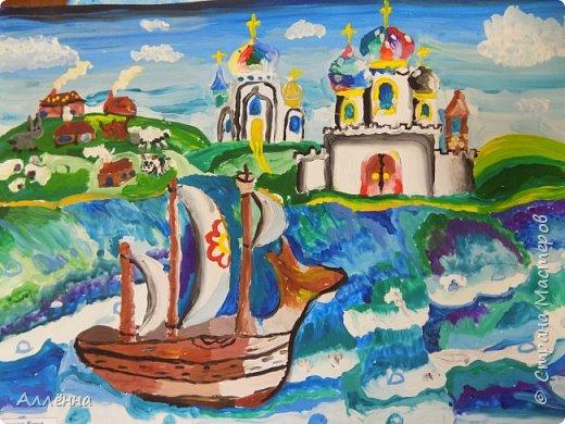 Рисование - самый простой способ погрузиться в мир волшебства, гармонии  и любви. Спасибо моим детям за это!  Сочные сказочные мотивы :) Добрый путник войди в славный город Багдад!  фото 16