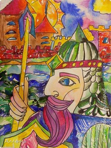Рисование - самый простой способ погрузиться в мир волшебства, гармонии  и любви. Спасибо моим детям за это!  Сочные сказочные мотивы :) Добрый путник войди в славный город Багдад!  фото 17