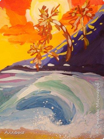 Новый сезон, новые темы, техники и только любовь <3 неизменна Рисунки души  Это море меня покарило, смогу ли я сама подобрать такую гамму для воды?  фото 4