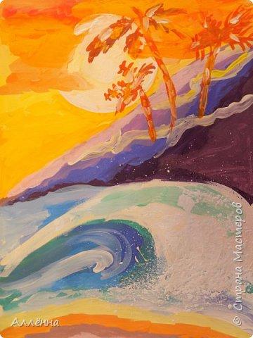 Новый сезон, новые темы, техники и только любовь <3 неизменна Рисунки души  Это море меня покарило, смогу ли я сама подобрать такую гамму для воды?  фото 5