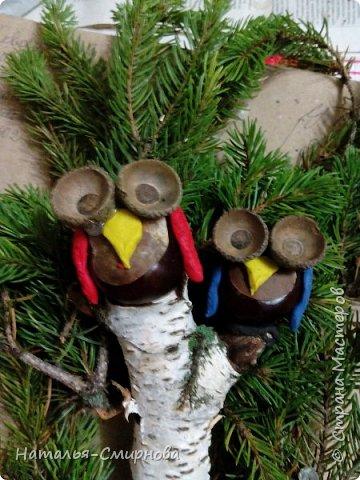 Здравствуйте! Дочке в садик делали с сестрой поделки на выставку к осеннему утреннику. Утка с утятами из очищенного кукурузного кочана.   фото 21