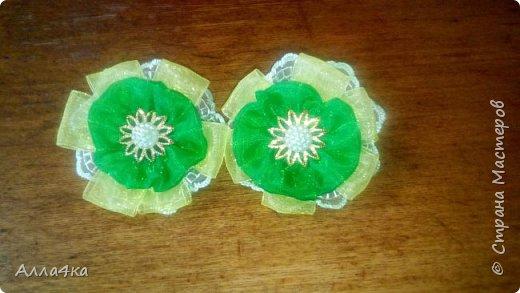 Милые маленькие резиночки из органзы фото 2