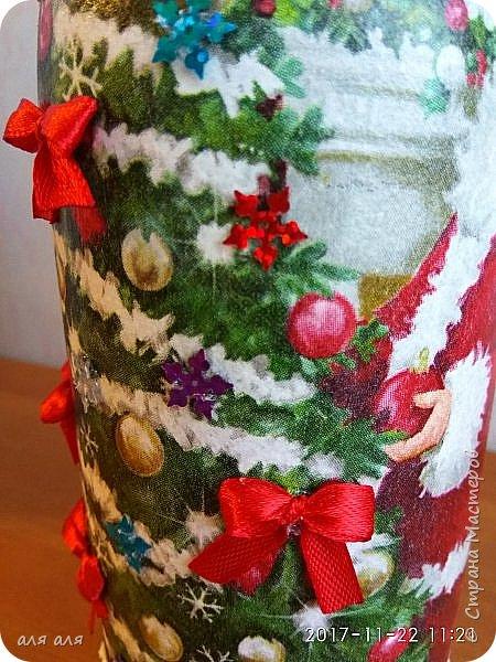 Добрый вечер, Страна!!! Продолжаю подготовку к НГ, декорирую новогодний напиток, это уже вторая часть, декор в разной технике, кому интересно, задержитесь и потратьте немного своего времени, мне будет очень приятно!!!! фото 6