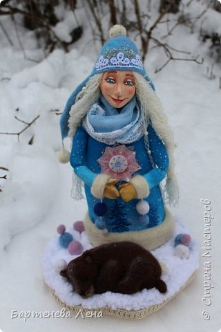 """Наконец то выпал снег! Как же я люблю его! И тут же подоспела новая кукла """"Зима"""") фото 1"""