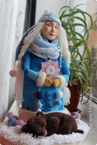 """Наконец то выпал снег! Как же я люблю его! И тут же подоспела новая кукла """"Зима"""") фото 8"""