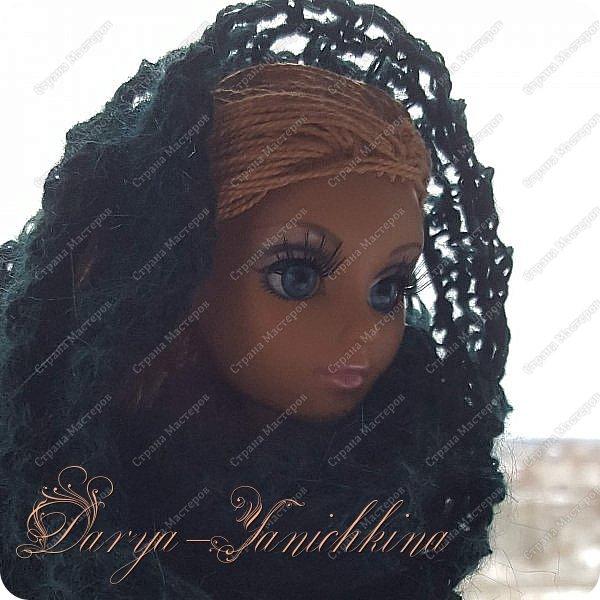 Снуд для куклы из остатков пряжи. фото 1