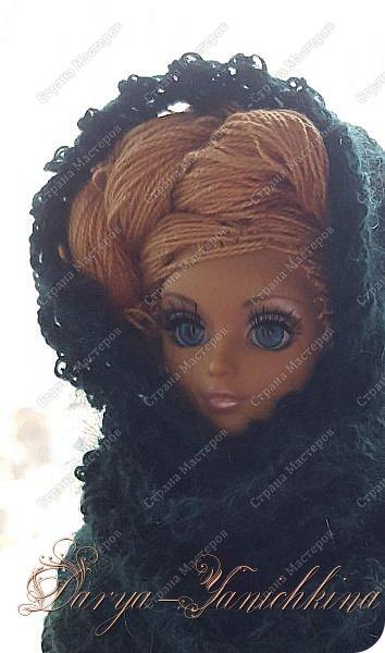 Снуд для куклы из остатков пряжи. фото 2