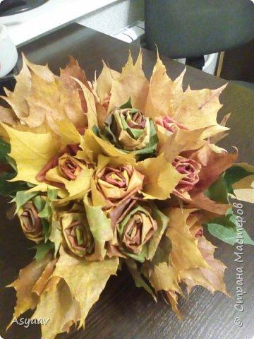 Осенний букет роз фото 4