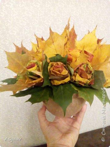 Осенний букет роз фото 3