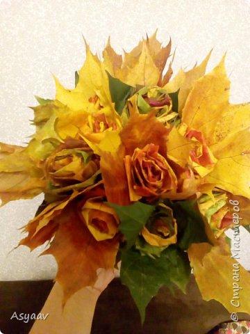 Осенний букет роз фото 1