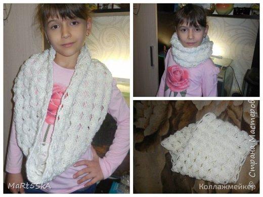 Варежки и шарфик доче, чтоб не мерзла) фото 2