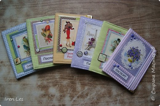 Здравствуйте, дорогие жители Страны. Как и обещала, продолжаю показывать текстильные обложки на паспорт. В этой партии получились вот такие : фото 1