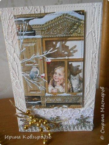 Здравствуйте, дорогие соседи по СМ! Готовлюсь к Новому году. Представляю вашему вниманию мои новые выдумки. Три открытки фото 7