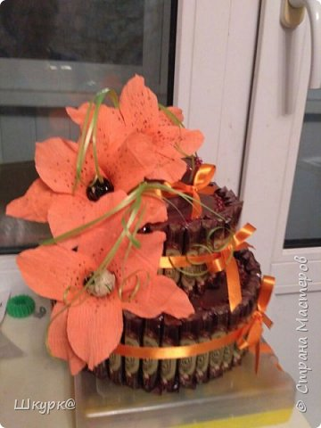 Данный тортик делали с дочкой классному рукодителю на день Рождения. фото 4