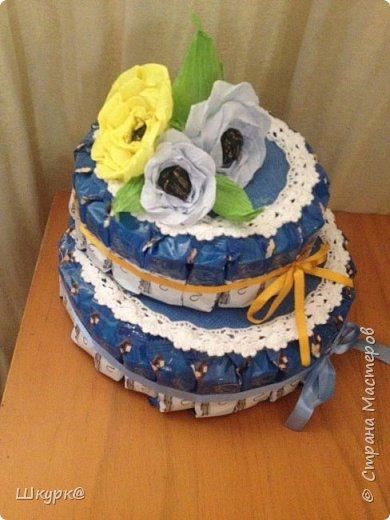Данный тортик делали с дочкой классному рукодителю на день Рождения. фото 2