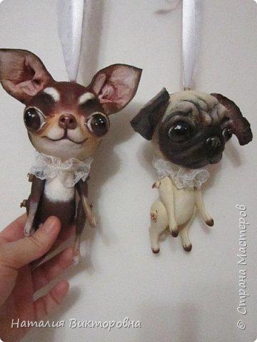 Всем ,здравствуйте! Вот такие собачки у  меня получились! Лапки подвижные! фото 12