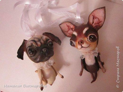 Всем ,здравствуйте! Вот такие собачки у  меня получились! Лапки подвижные! фото 13