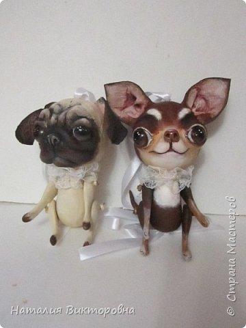 Всем ,здравствуйте! Вот такие собачки у  меня получились! Лапки подвижные! фото 24