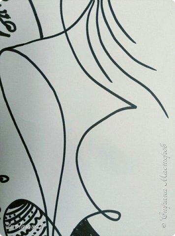 Сбылась моя тайная мечта!!! Я попала на мастер- класс к чудесному человеку, художнику - этнофутуристу Юрию Лисовскому. Мы много разговаривали, он показывал мне свои работы (от которых я просто в восторге!!!). На сам рисунок ушло около часа.... :))) Это моя чудо- птица, рожденная из каракули фото 4