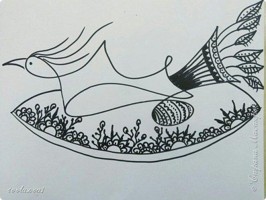 Сбылась моя тайная мечта!!! Я попала на мастер- класс к чудесному человеку, художнику - этнофутуристу Юрию Лисовскому. Мы много разговаривали, он показывал мне свои работы (от которых я просто в восторге!!!). На сам рисунок ушло около часа.... :))) Это моя чудо- птица, рожденная из каракули фото 5