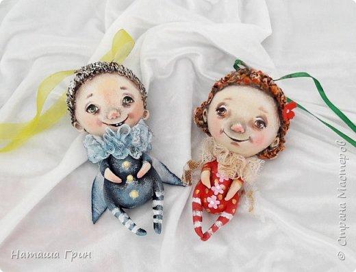 Всем привет! А мы потихоньку готовимся к Новому году и Рождеству:) И вот мои рождественские ангелочки появляются на свет. Стараюсь делать их разными. фото 1