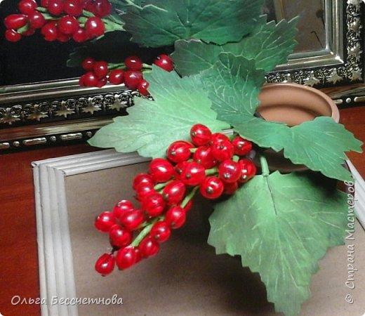 Ягодка сделаны из горячего клея, а листочки из Фома.  фото 1