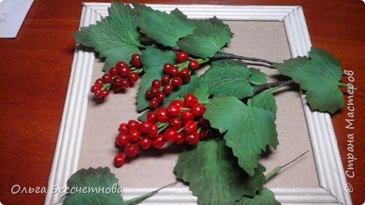 Ягодка сделаны из горячего клея, а листочки из Фома.  фото 4