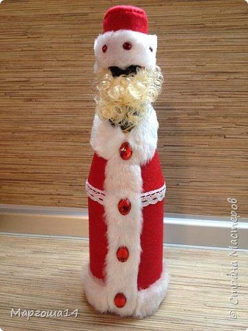 Привет,Страна Мастеров!!! Продолжаем готовиться к Новому Году. Дед Мороз - рост (без шапочки) 17 см,в ручки вставлена проволока. фото 10