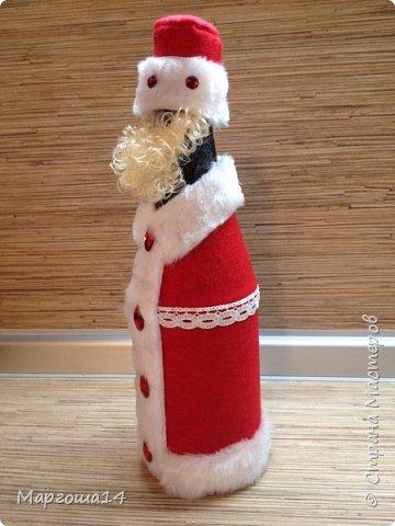 Привет,Страна Мастеров!!! Продолжаем готовиться к Новому Году. Дед Мороз - рост (без шапочки) 17 см,в ручки вставлена проволока. фото 11