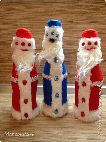 Привет,Страна Мастеров!!! Продолжаем готовиться к Новому Году. Дед Мороз - рост (без шапочки) 17 см,в ручки вставлена проволока. фото 16