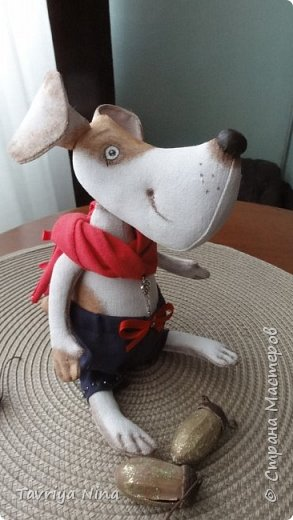 Собачки выполнены из бязи , размер 8*18см. Роспись-акриловые краски. фото 6