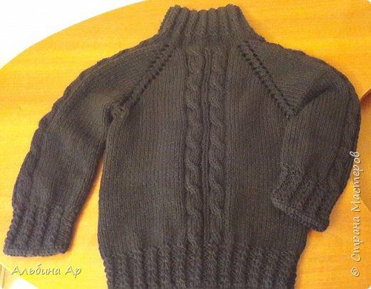 Всем привет! Продолжаю вспоминать забытое вязание. Кофточка для внука 5 лет. Пряжа детская пехорка. Ушло меньше 300грамм фото 2