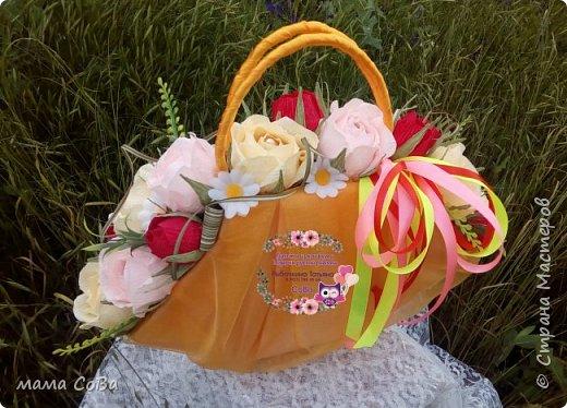 Получился вот такой бюджетный вариант летней сумочки с конфетками. Заказчик доволен, одаряемая - в восторге. Есть куда расти, так что я очень стараюсь))) фото 3