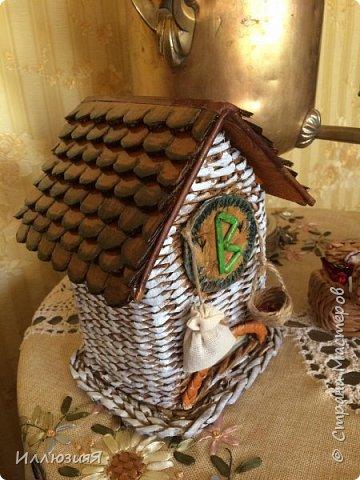 Задумывался чайный домик,но по размеру оказался большой,поэтому приспособила под пакеты фото 1