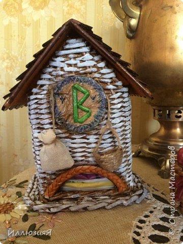 Задумывался чайный домик,но по размеру оказался большой,поэтому приспособила под пакеты фото 3