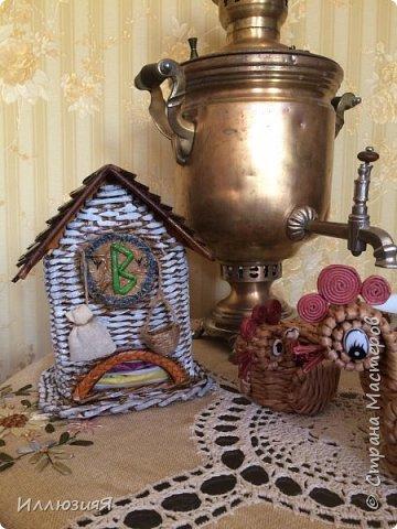 Задумывался чайный домик,но по размеру оказался большой,поэтому приспособила под пакеты фото 4