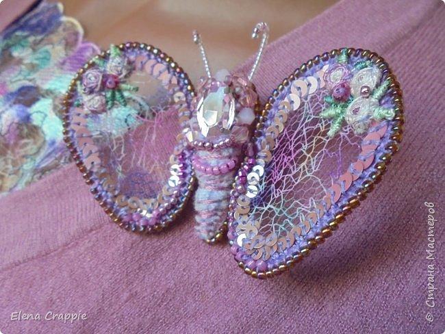 Броши насекомые.Муха,жучок и бабочка. фото 15