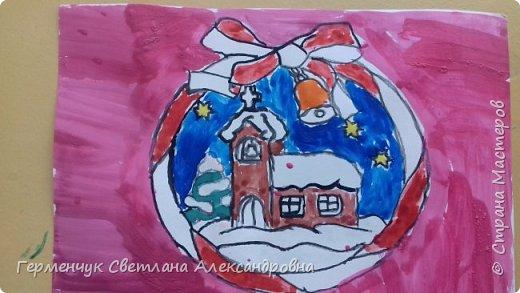 """С   хорошим настроением  на уроке ИЗО раскрасили ребята  3 """"А"""" класса   вот такие  елочные игрушки  . Скоро-скоро наступит  зима , Новый год..А  еще - и самые долгожданные зимние каникулы !!!  Вот только  бы выпал    снег!!!  Ждем с нетерпением!!! фото 18"""