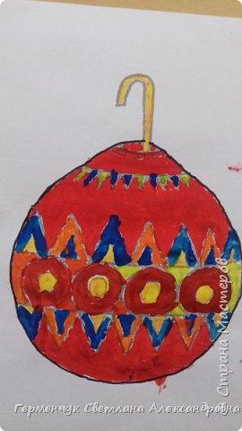 """С   хорошим настроением  на уроке ИЗО раскрасили ребята  3 """"А"""" класса   вот такие  елочные игрушки  . Скоро-скоро наступит  зима , Новый год..А  еще - и самые долгожданные зимние каникулы !!!  Вот только  бы выпал    снег!!!  Ждем с нетерпением!!! фото 17"""
